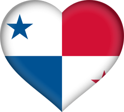 Flag of Panama - Heart 3D