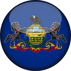 Flag of Pennsylvania - 3D Round