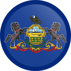 Flag of Pennsylvania - Button Round