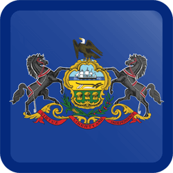 Flag of Pennsylvania - Button Square