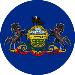 Flag of Pennsylvania - Round