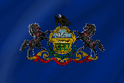 Flag of Pennsylvania - Wave