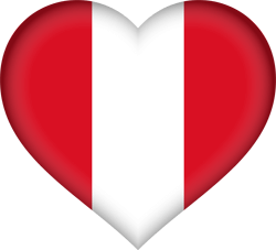 Flag of Peru - Heart 3D