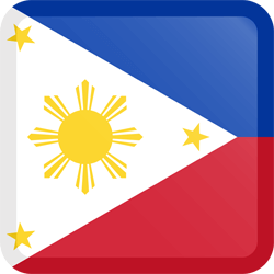 Flag of the Philippines - Button Square