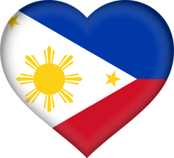 Flag of the Philippines - Heart 3D