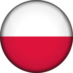 Flag of Poland - 3D Round