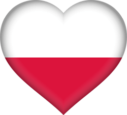 Flag of Poland - Heart 3D