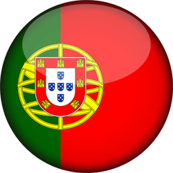 Flag of Portugal - 3D Round