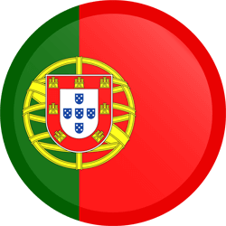 Flag of Portugal - Button Round