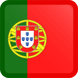 Flag of Portugal - Button Square