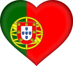 Flag of Portugal - Heart 3D