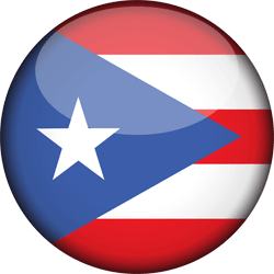Flag of Puerto Rico - 3D Round