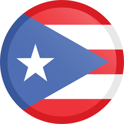 Flag of Puerto Rico - Button Round