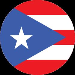 Vlag van Puerto Rico - Rond