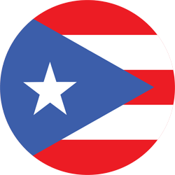 Flag of Puerto Rico - Round
