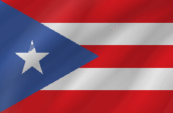 Flag of Puerto Rico - Wave