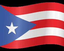 Flagge von Puerto Rico - Winken