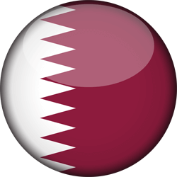 Flag of Qatar - 3D Round
