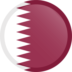 Flag of Qatar - Button Round