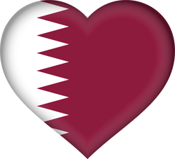 Flag of Qatar - Heart 3D