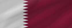 Drapeau du Qatar - Vague