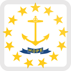 Download Rhode Island flag clipart - free download