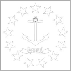 Flagge von Rhode Island anmalen - Gratis Download