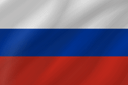 Drapeau de la Russie - Vague