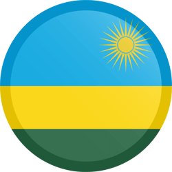 Flag of Rwanda - Button Round