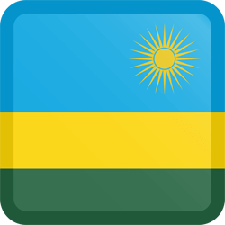 Flag of Rwanda - Button Square