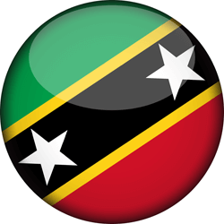 Flag of Saint Kitts and Nevis - 3D Round