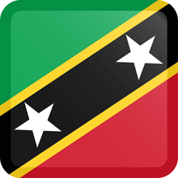 Saint Kitts and en Nevis vlag icon - gratis downloaden