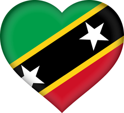 Flagge von St. Kitts und Nevis Emoji - Gratis Download