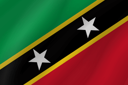 Vlag van Saint Kitts en Nevis - Golf