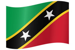 Flag of Saint Kitts and Nevis - Waving
