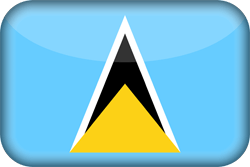 Flag of Saint Lucia - 3D
