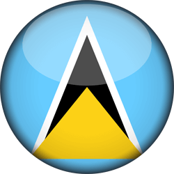Flag of Saint Lucia - 3D Round