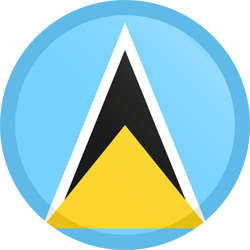 Flag of Saint Lucia - Button Round