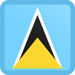 Flag of Saint Lucia - Button Square