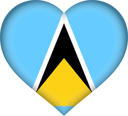 Flag of Saint Lucia - Heart 3D