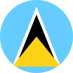 Flag of Saint Lucia - Round