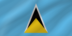 Flag of Saint Lucia - Wave