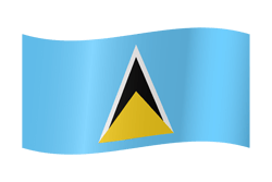 Flag of Saint Lucia - Waving