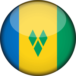 Flag of Saint Vincent and the Grenadines - 3D Round