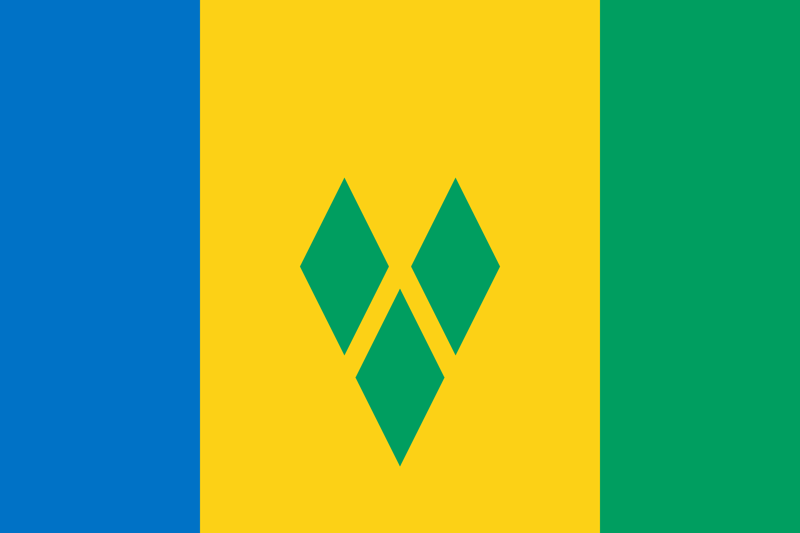 Flag Of Saint Vincent And The Grenadines Image And Meaning Saint Vincent And The Grenadines Flag Country Flags