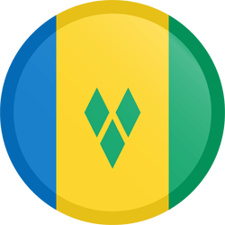 Flag of Saint Vincent and the Grenadines - Button Round