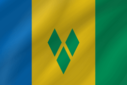 Vlag van Saint Vincent en de Grenadines - Golf
