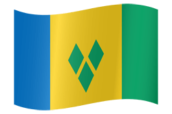 Flag of Saint Vincent and the Grenadines - Waving