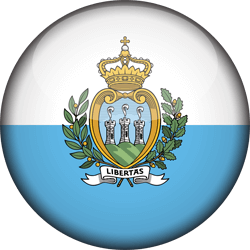 Flag of San Marino - 3D Round