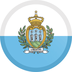 Flag of San Marino - Button Round